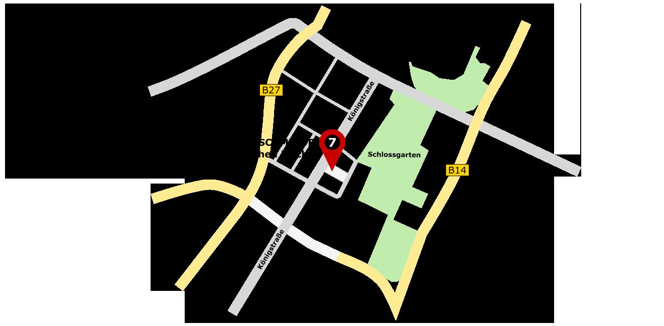 Anfahrt zur Boutique 'die Lederschmiede' in Stuttgart