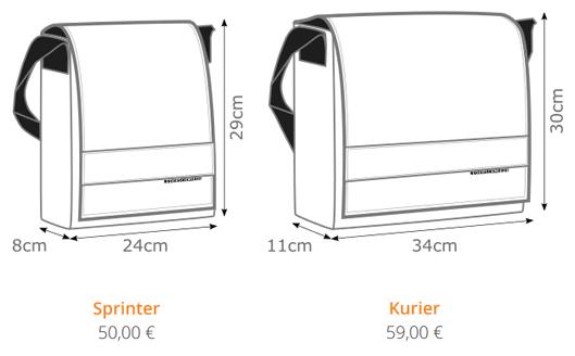 Taschenvarianten - Taschen selbst gestalten
